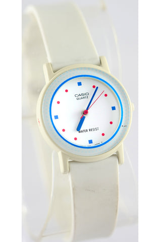 Casio LQ-46W Ladies Vintage 1990s Analog Watch Blue White Band New