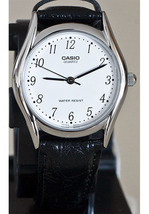 630a598e90d Casio LTP-1094E-7B Ladies White Analogue Croc Leather Band Watch · Enlarge  Image
