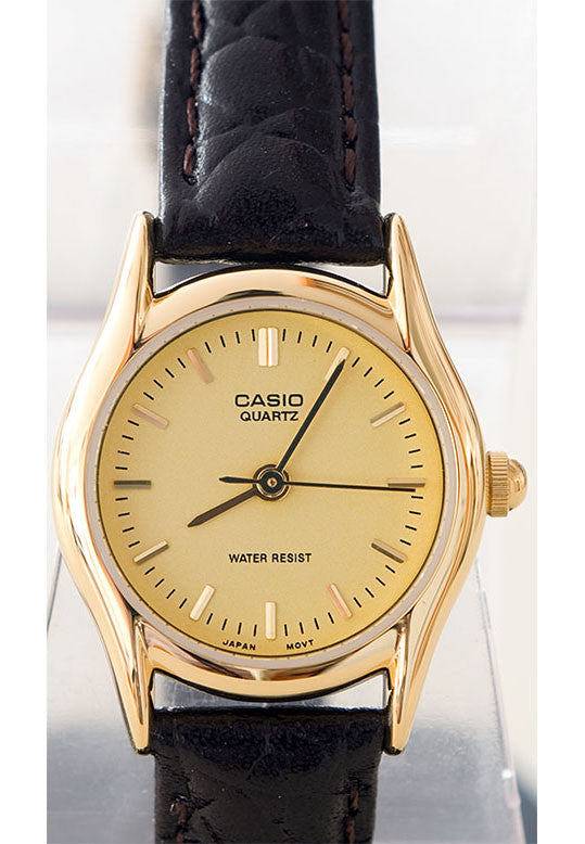 new products 4dce2 a6eaa Casio LTP-1094Q-9A Ladies Analogue Leather Band Watch