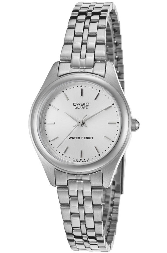 Casio LTP-1129A-7A Ladies Stainless Steel Silver Dial Casual Dress Watch