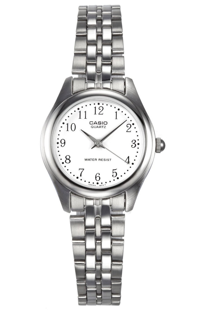 Casio LTP-1129A-7B Ladies Stainless Steel Silver Dial Casual Dress Watch