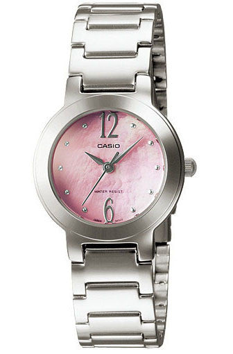 Casio LTP-1191A-4A1 Ladies Pink Stainless Steel Casual Dress Watch