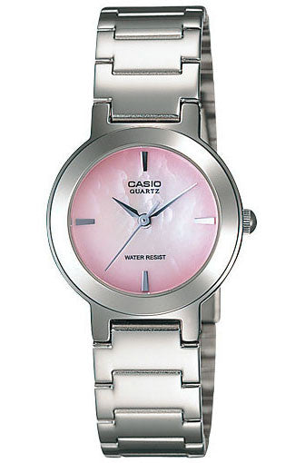 Casio LTP-1191A-4C Ladies Pink Stainless Steel Casual Dress Watch Round Quartz