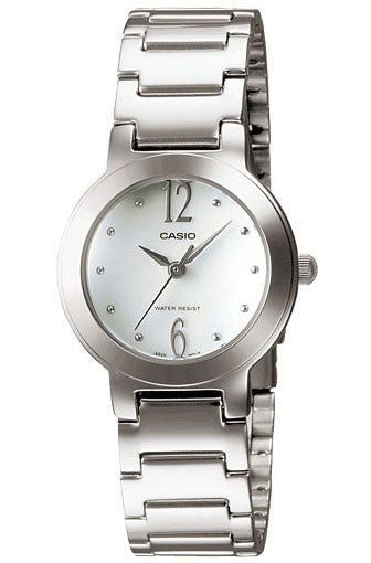 new styles 925c0 eac00 Casio LTP-1191A-7A Ladies White Stainless Steel Casual Dress Watch Round  Quartz