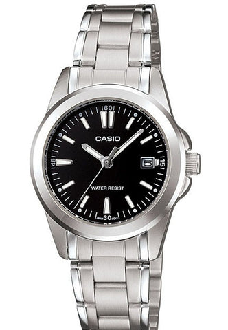 Casio LTP-1215A-1A2 Ladies Steel Bracelet Analogue with Date Display Watch