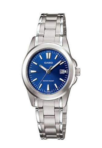 Casio LTP-1215A-2A2 Ladies Steel Analogue Date Display Watch