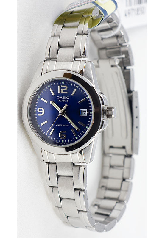 Casio LTP-1215A-2AD Ladies Steel Analogue Date Display Watch