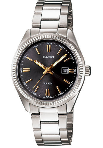 Casio LTP-1302D-1A2V Ladies Analogue Stainless Steel Date Watch