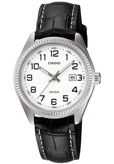 Casio LTP-1302L-7BV Ladies Analogue Leather Band with Date Display Watch