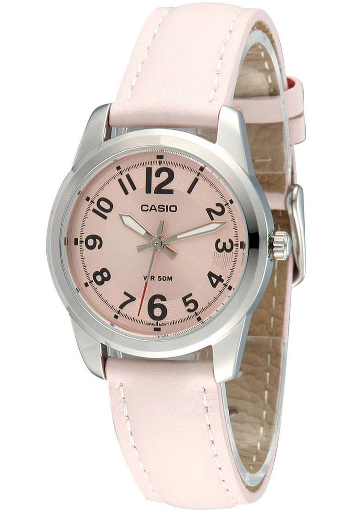 Casio LTP-1315L-4BV Ladies Pink Quartz Date Display Watch Fancy Leather Band
