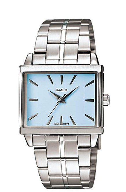 Casio LTP-1334D-2A Ladies Silver Stainless Steel Quartz Watch with Blue Dial