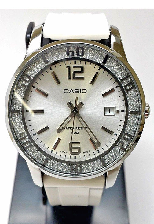 Casio LTP-1359-7AV Ladies White Analogue 50M WR Watch