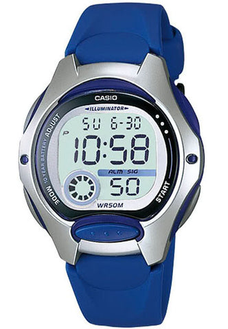 Casio LW-200-2AV Ladies Dark Blue Digital 2 Time Zones LCD Light Alarm Watch
