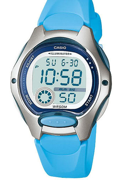 Casio LW-200-2BV Ladies Light Blue Digital Watch 2 Time Zones LCD Light Alarm