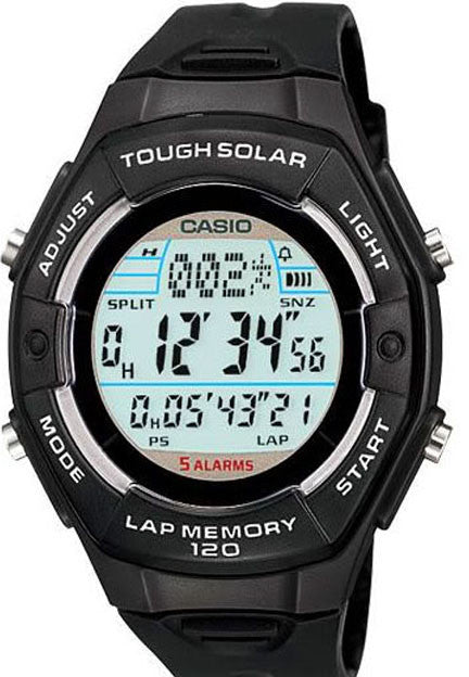Casio LW-S200H-1A Ladies SOLAR World Time Watch 50M 5 Alarms 120 Data Sets