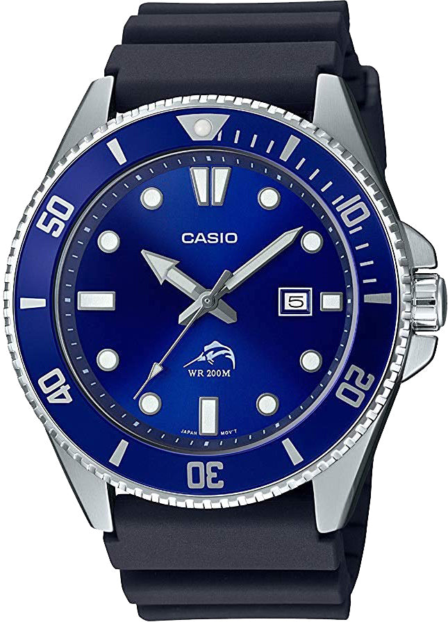 Casio MDV-106B-2A Mens Duro 200M 2020 Analog 200M Diver Sports Watch Brand New Blue