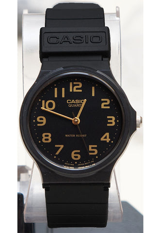 Casio MQ-24-1B2 Classic Black & Gold Thin Analogue Watch