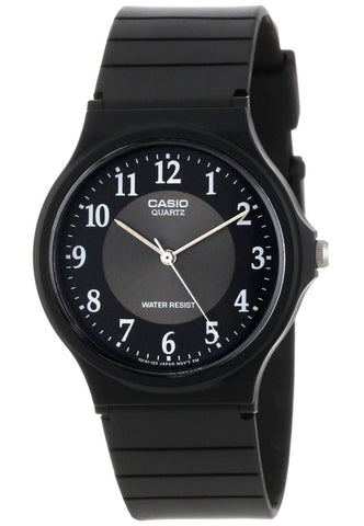 Casio MQ-24-1B3 Classic Black & Gold Thin Analogue Watch