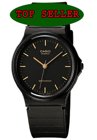 Casio MQ-24-1E Classic Black & Gold Thin Analogue Watch