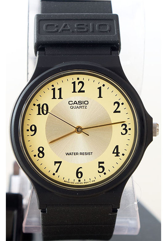 Casio MQ-24-9B3 Classic Thin Analogue Gold Face Watch