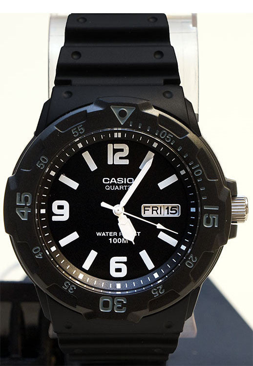 Casio MRW-200H-1B2 Analogue Day and Date Neo Display Watch 100m WR New