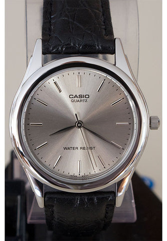 Casio MTP-1093E-8A Men's Grey Analogue Quartz Watch Leather Band