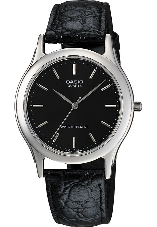 Casio MTP-1093E-1A Men's Grey Analogue Quartz Watch Leather Band