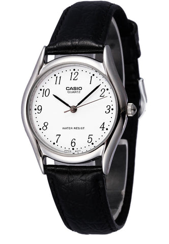 Casio MTP-1094E-7B Men's Analogue Quartz Watch Croc Leather Band