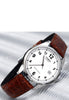 Casio MTP-1175E-7B Men's Analogue Watch Leather Band Croc Classic White