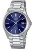 Casio MTP-1183A-2AD Men's Blue Analogue Quartz Steel Band Watch with Date Display