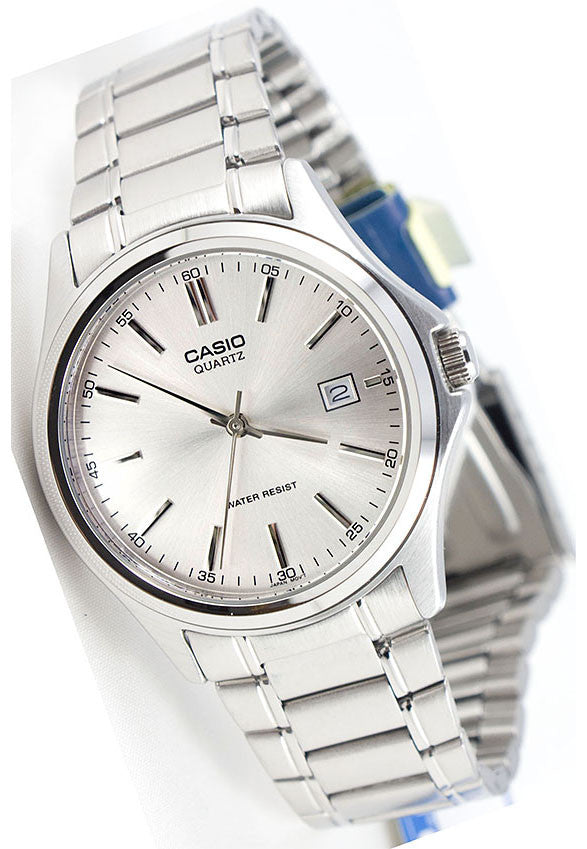 Casio MTP-1183A-7AD Men's Silver Analogue Quartz Steel Band Watch with Date Display