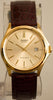 Casio MTP-1183Q-9A DEAD BATTERY Men's Gold Analogue Leather Band Date Watch Palladium Case