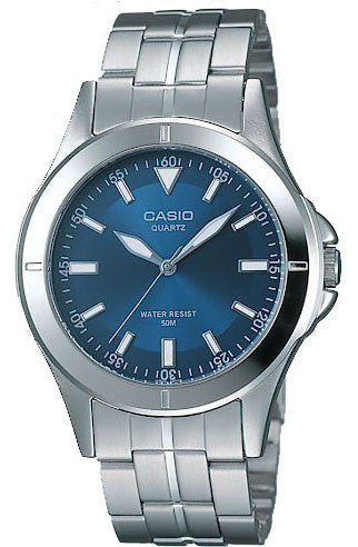 Casio MTP-1214A-2AV Men's Blue Analogue Quartz Steel Watch
