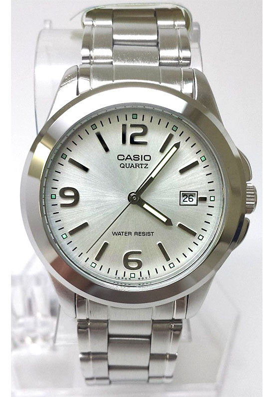 Casio MTP-1215A-7AD Men's Analogue Quartz Steel Watch with Date Display