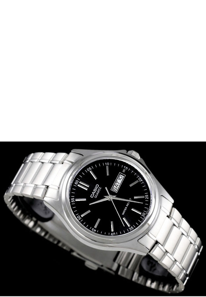 Casio MTP-1239D-1AD Men's Analogue Quartz Steel Watch Day and Date Stamp