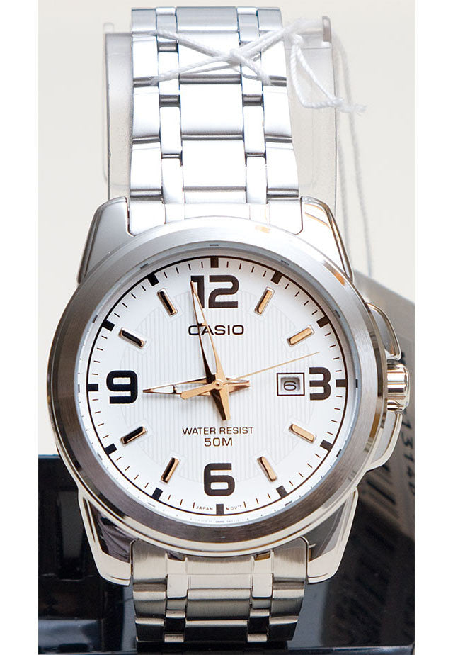 Casio MTP-1314D-7AV Men's Stainless Steel Band with Date Neo Display Watch