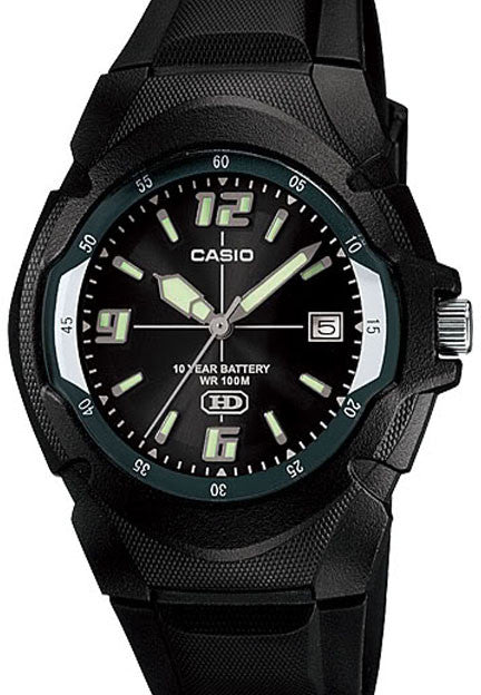 Casio MW-600F-1AV Black Analogue with Neo Date Display 10 Year Battery Watch