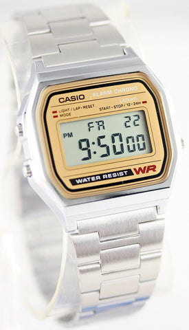 Casio A-158WEA-9CF Classic Digital Steel Watch Alarm Stopwatch Casual New
