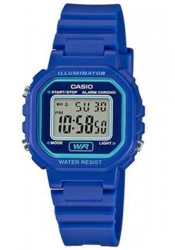 Casio LA-20WH-2A Ladies Blue Digital Watch with LED Light 5 Year Battery New