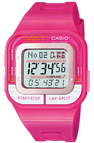Casio SDB-100-4A Ladies Running Pace 60-Lap Memory Sports 4 Alarms Watch