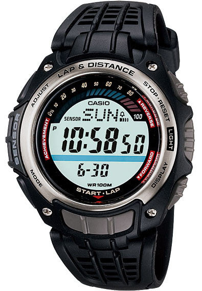 Casio SGW-200-1AV Pedometer Lap Memory 100 - World Time 5 Alarms Watch NEW