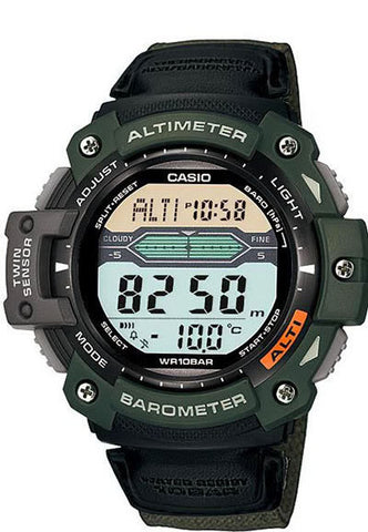 Casio SGW-300HB-3AV Altimeter Thermometer World Time Cloth Band Watch