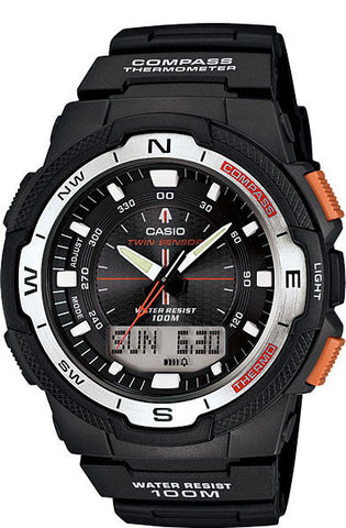 Casio SGW-500H-1B Compass Thermometer Moon Sunset Sunrise Data Watch
