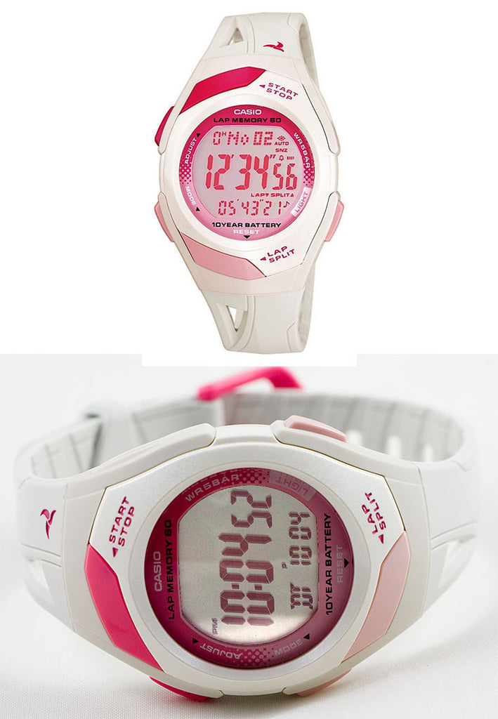 Casio STR-300-7 Ladies Pace Maker Lap Memory Watch
