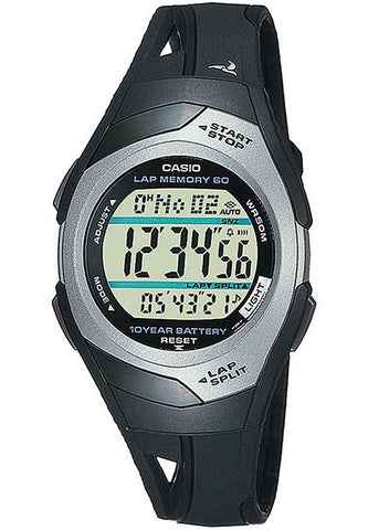 Casio STR-300C-1V Ladies Pace Maker Lap Memory 2 Time Zones 5 Alarms Watch