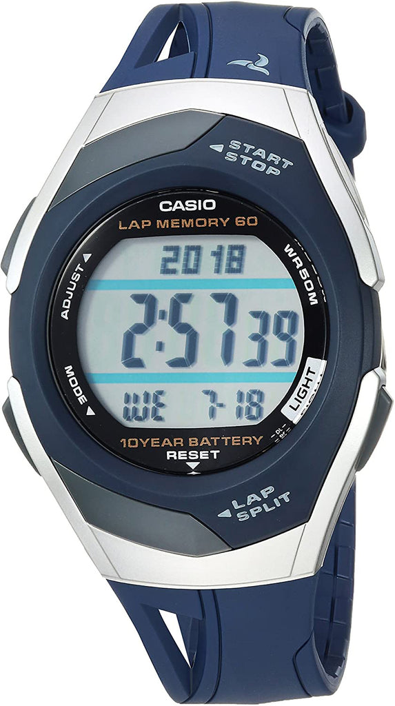 Casio STR-300C-2V Ladies Pace Maker Lap Memory Watch 2 Time Zones 5 Alarms