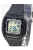 Casio W-201-1av Digital Illuminator Watch with 2 Time-Zones 10 Year Battery New