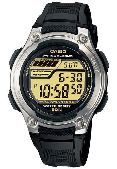 Casio W-212H-9AV Digital Sport Watch 5 Multi-Functional Alarms 50m WR