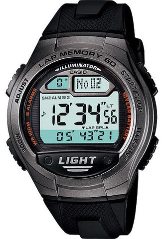 Casio W-734-1AV Lap Memory 60 - World Time 5 Alarms Watch New 10 Year Battery