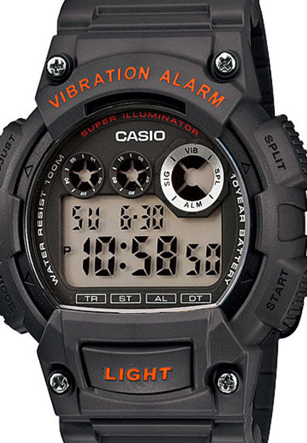 Casio W-735H-8AV Super Illuminator Vibration Alarm 10 Year Battery Watch